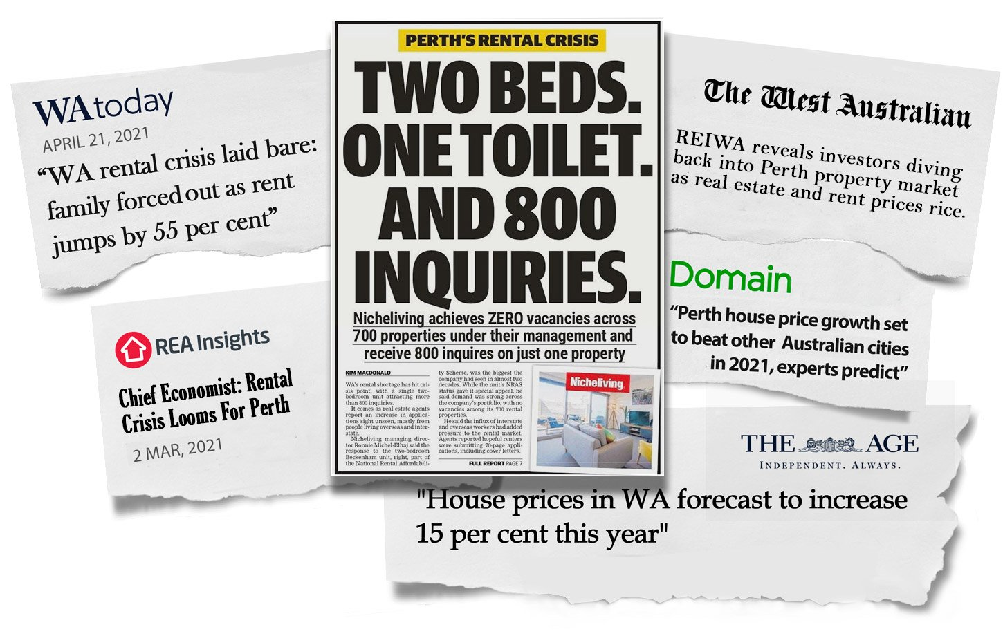 The rental crisis news clipping