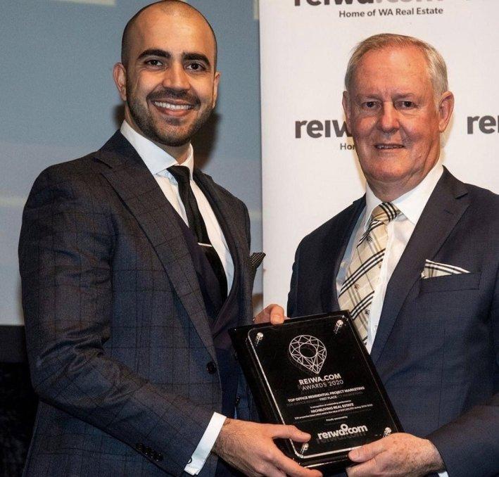 Jay receiving REIWA Award 2020